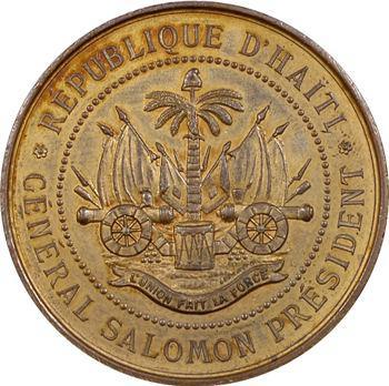 Haïti, général Salomon président de l'Exposition internationale d'Amsterdam, 1883