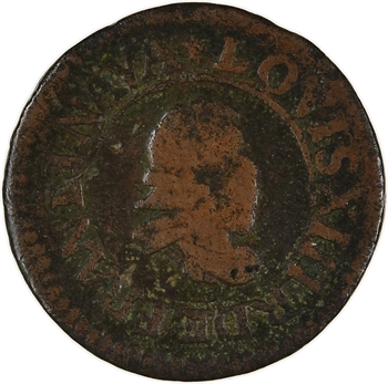 Louis XIII, denier tournois 1er type, 1615 Lyon