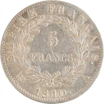 Premier Empire, 5 francs Empire, 1810 Paris