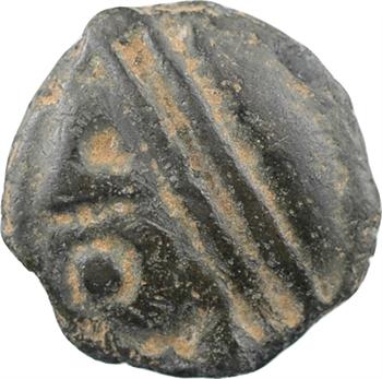 Séquanes, potin à la grosse tête au bandeau lisse, c.60-50 av. J.-C.
