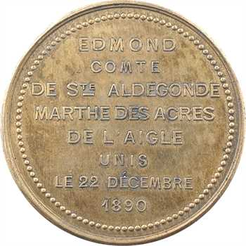 IIIe République, mariage du comte de Sainte Aldegonde, par Acry, 1890 Paris