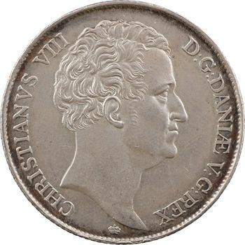 Danemark, Christian VIII, speciedaler (thaler), 1846 Copenhague