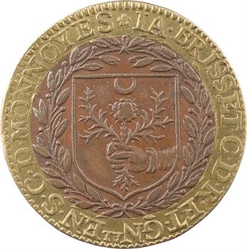 Cour des monnaies, Jacques Brisset, général, jeton bimétallique, 1616 Paris