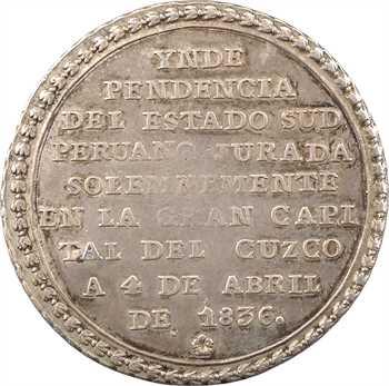 Pérou, 4 reales, indépendance du sud Pérou, 1836
