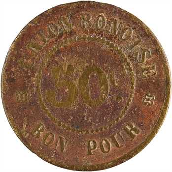 Algérie, Bône, l'Union bônoise, 50 centimes, s.d