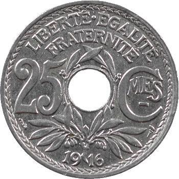 IIIe République, 25 centimes Lindauer, 1916 Paris