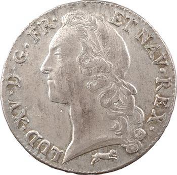 Louis XV, écu au bandeau, 1763 Orléans