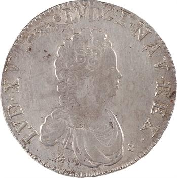 Louis XV, écu dit Vertugadin, 1716 Bordeaux