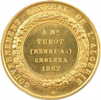 Algérie, Napoléon III, épidémie de choléra, en or, 1867 Paris