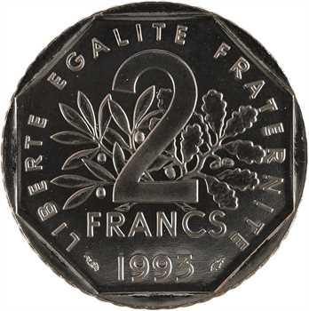 Ve République, essai de 2 francs Jean Moulin, 1993 Pessac
