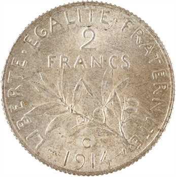 IIIe République, 2 francs Semeuse, 1914 Castelsarrasin