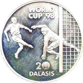 Gambie (République de), 20 dalassis Coupe du monde 1998, 1996