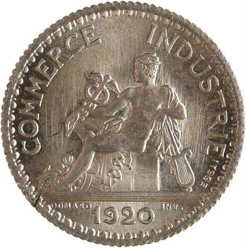 IIIe République, essai de 1 franc Chambres de commerce, 1920 Paris