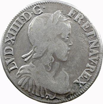 Louis XIV, demi-écu à la mèche longue, 1653 Aix-en-Provence