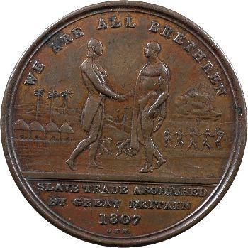 Sierra Leone, penny-token pour l'abolition de la traite, 1807