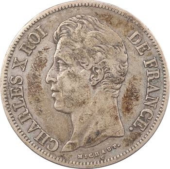 Charles X, 5 francs 2e type, 1830 Marseille