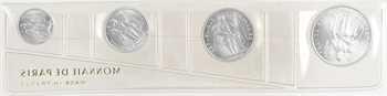 Polynésie (Océanie), Série fleur de coin 50 centimes, 1, 2 et 5 francs, 1965 Paris