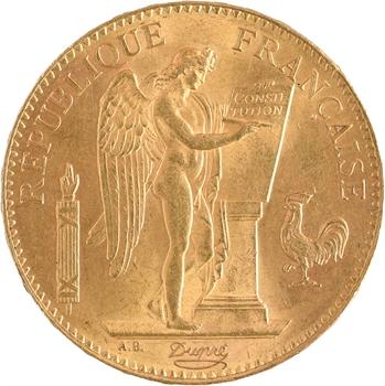 IIIe République, 100 francs Génie, 1886 Paris