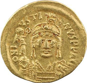 Justin II, solidus, Constantinople, 9e officine, 575-578
