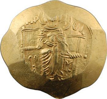 Isaac II, hyperpyron scyphate, Constantinople, 1185-1195