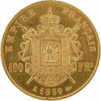 Second Empire, 100 francs tête nue, 1859 Paris