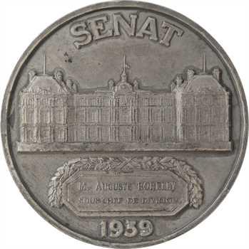 Crouzat (G.) : médaille du Sénat au sous-chef Auguste Borelly, 1939 Paris