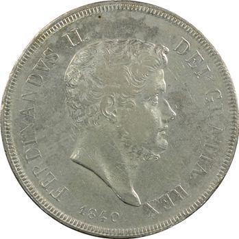 Italie, Deux-Siciles (royaume des), Ferdinand II, 120 Grana, 1840 Naples
