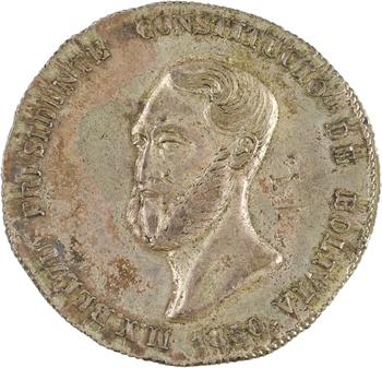 Bolivie (République de), président Belzu, 4 soles, 1850