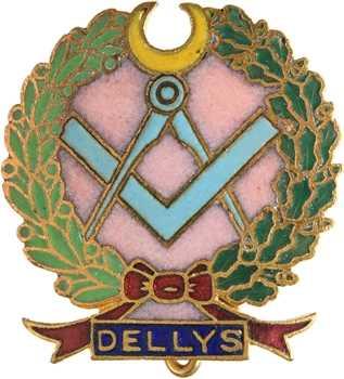 Algérie, École Coloniale d'Apprentissage Dellys, insigne maçonnique, s.d. Paris (Diets)