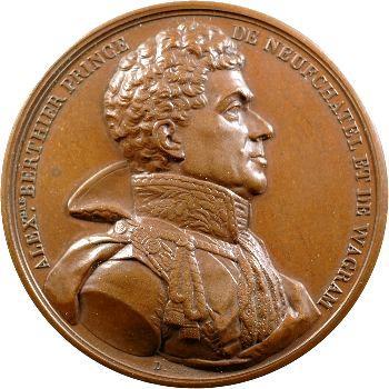 Premier Empire, Berthier, médaille, mort à Bamberg en 1815, refrappe après 1880
