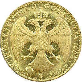 Yougoslavie (royaume de), Alexandre Ier, ducat, 1932 Belgrade