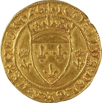 Charles VII, écu d'or à la couronne 3e type, 4e émission, Tours