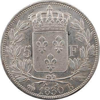 Charles X, 5 francs 2e type, 1830 Rouen