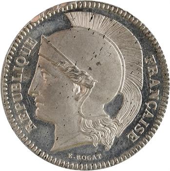IIe République, essai de 10 centimes par Rogat, en étain, 2e concours, 1848 Paris