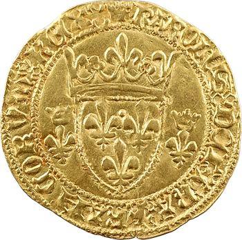 Charles VII, écu d'or à la couronne 3e type, 6e émission, Angers
