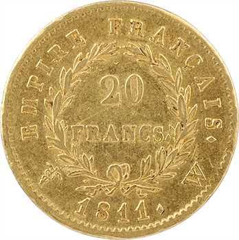 Premier Empire, 20 francs Empire, 1811 Lille