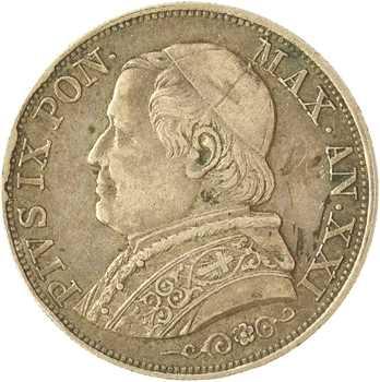 Vatican, Pie IX, 1 lire, 1867/XXI Rome