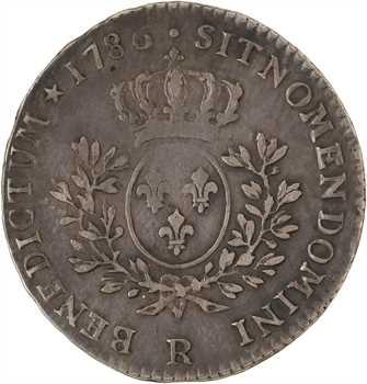 Louis XVI, cinquième d'écu aux branches d'olivier, 1786 Orléans