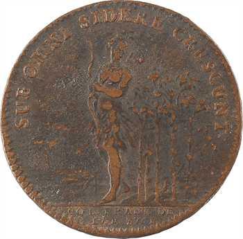 Amérique, Canada, Louis XV, jeton aux lis et Indien, par Duvivier, 1751 Paris