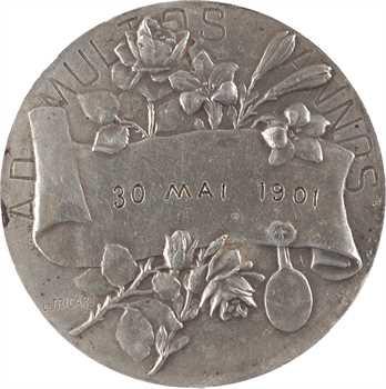IIIe République, médaille de mariage, par Tricard, 1901 Paris