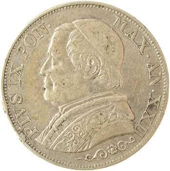 Vatican, Pie IX, 1 lire, 1867/XXII Rome