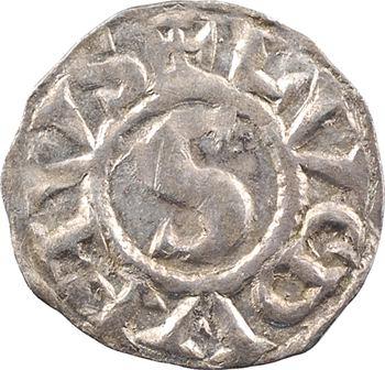 Lyon (comté de), Henri le Noir, roi de Bourgogne, denier au S, s.d. (1038-1058)