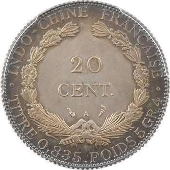Indochine, 20 centièmes, 1900 Paris PROOF, PCGS PR65