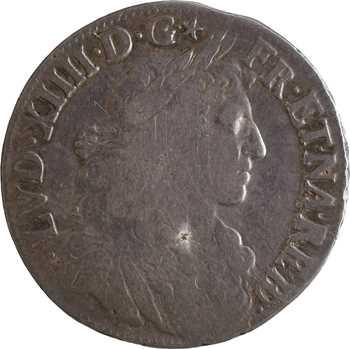 Louis XIV, demi-écu de Béarn au buste juvénile, 1679 Pau