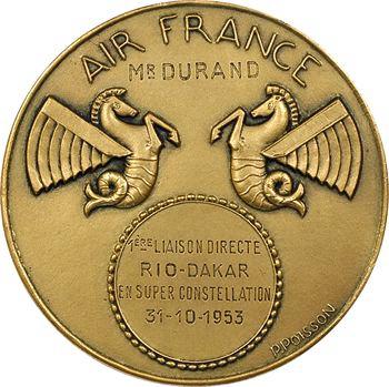 Aviation : Air France, première liaison directe Rio-Dakar, par Poisson, 1953 Paris