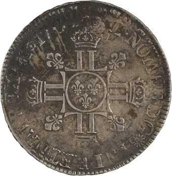 Louis XIV, écu aux huit L, 2e type, 1704 Paris