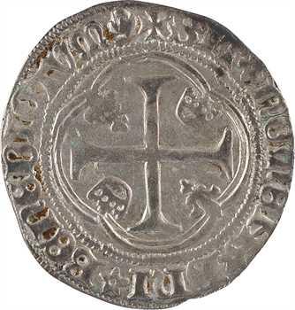 Charles VII, blanc à la couronne, 4e émission, Laon