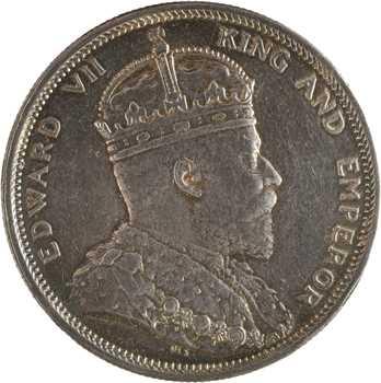 Malaisie (Straits Settlements), Édouard VII, dollar, 1904 Bombay