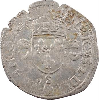 Henri II, douzain aux croissants, 1553 Troyes