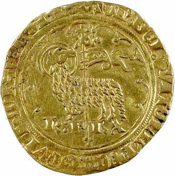 Charles VI, agnel d'or 2e émission, 1er type
